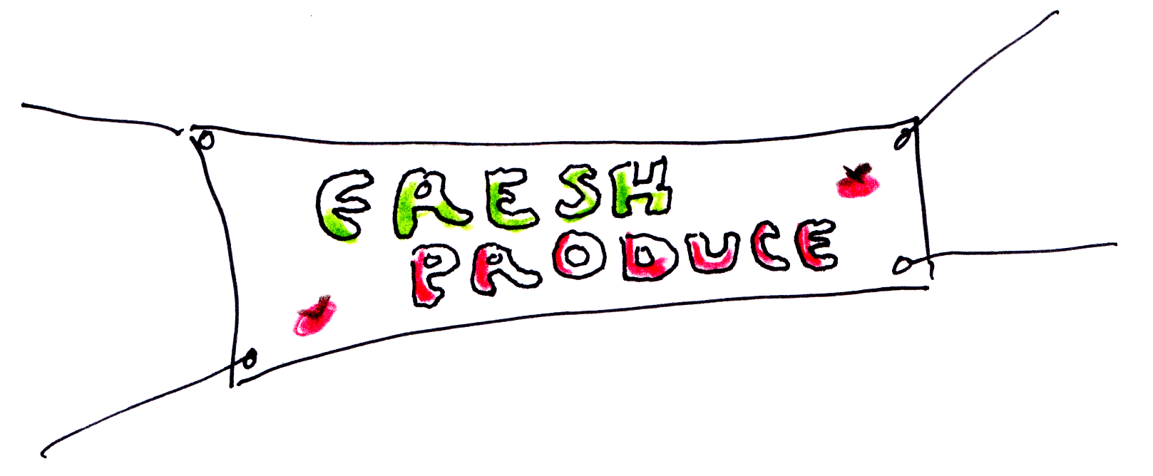 Fresh produce sign