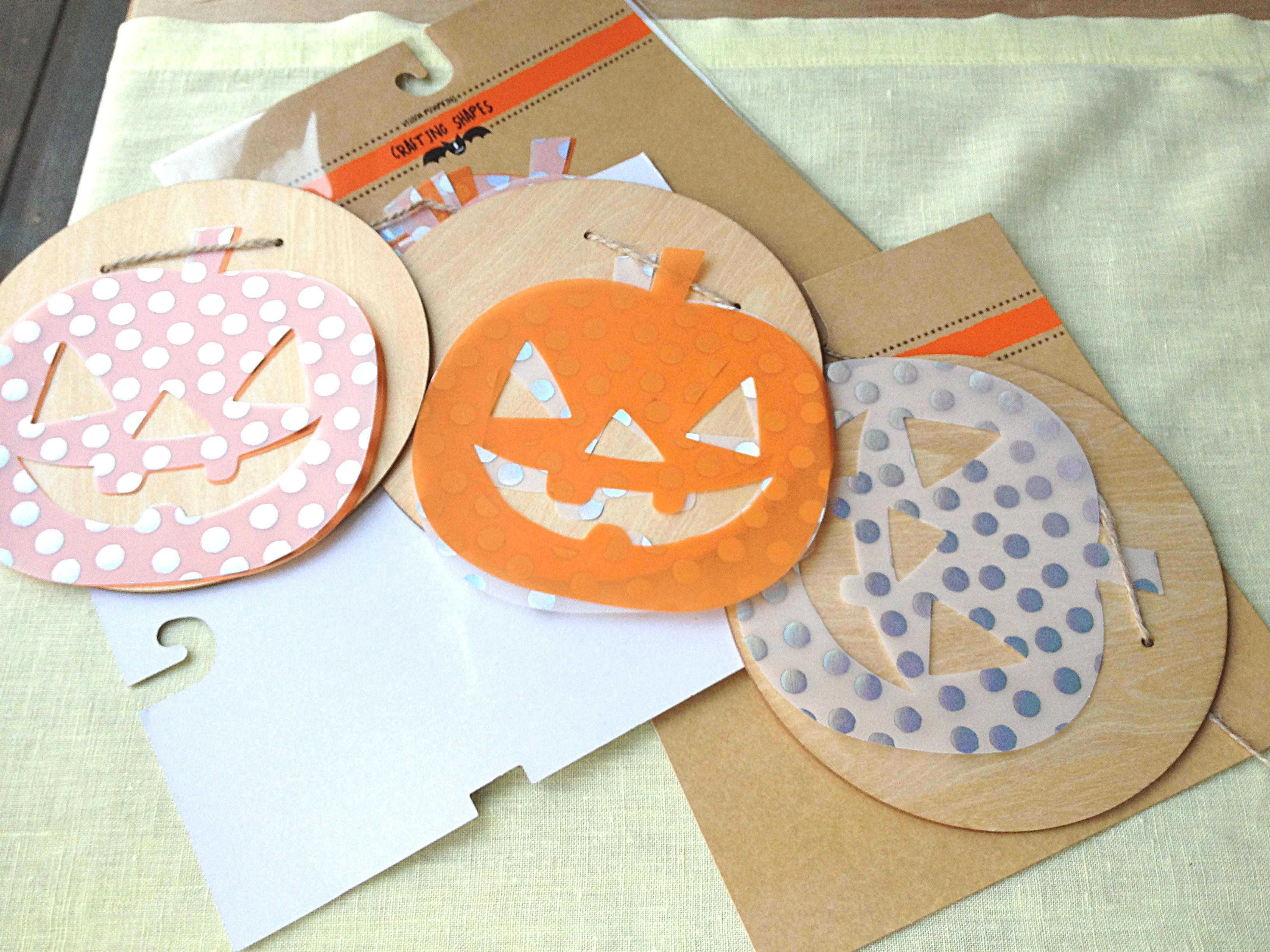 layering the vellum pumpkins