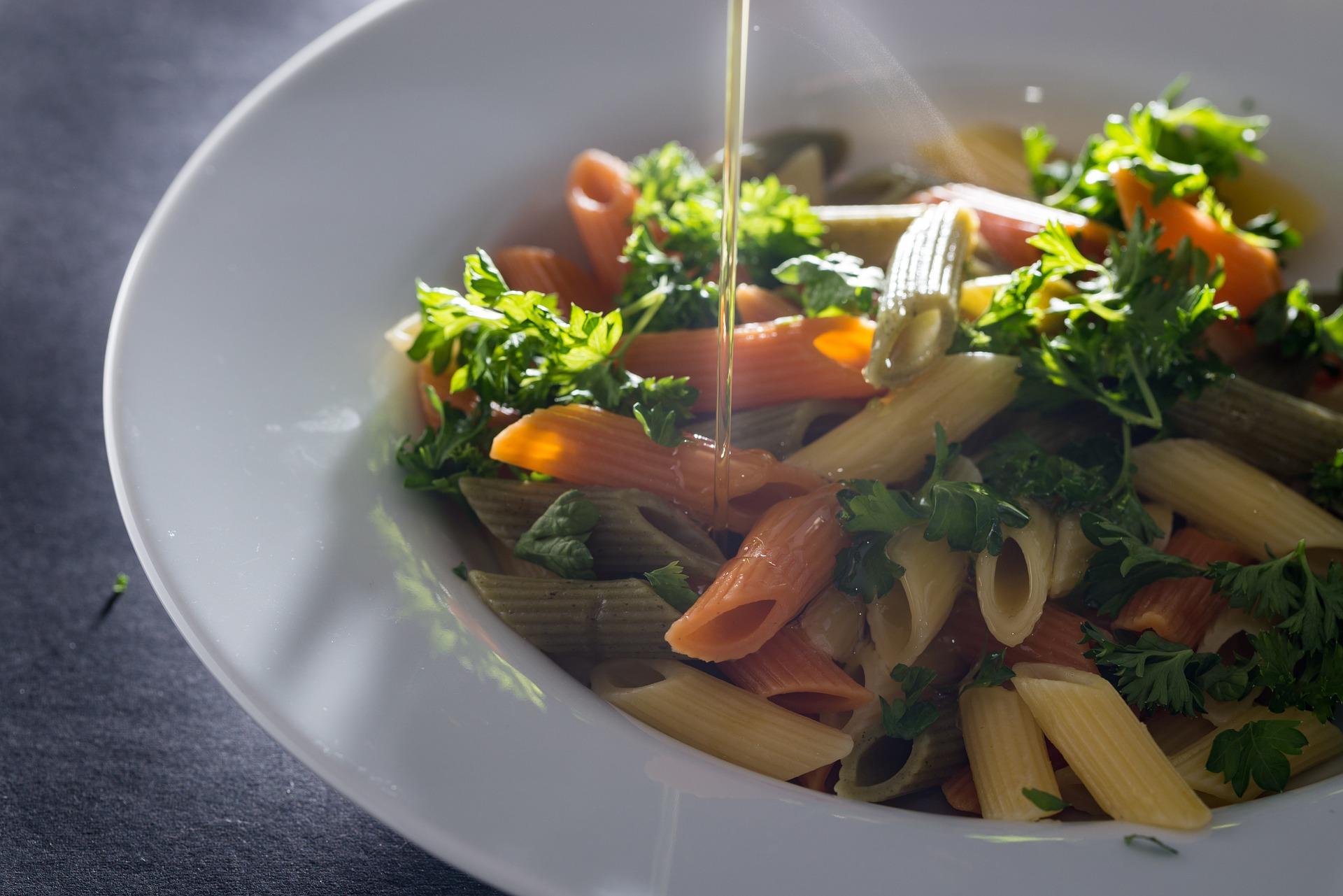 tricolor gluten-free pasta salad