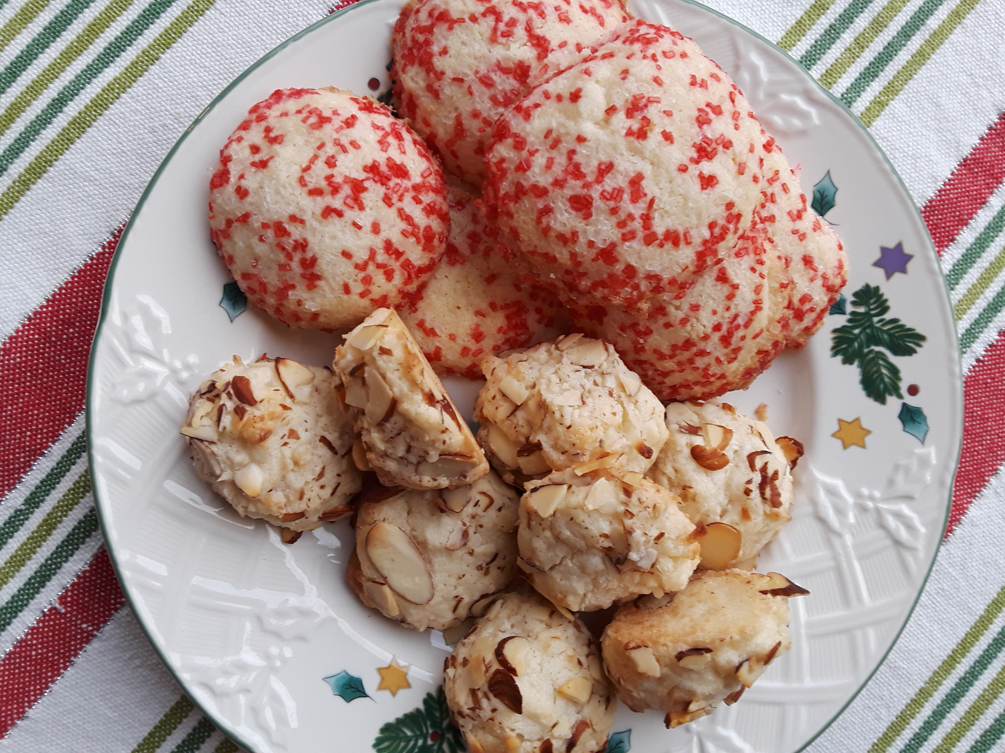 sprinkle cookies and almond cookies, gluten-free