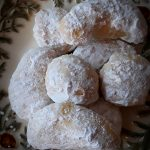 Kourambiethes - snowball cookies - rolled in powdered sugar