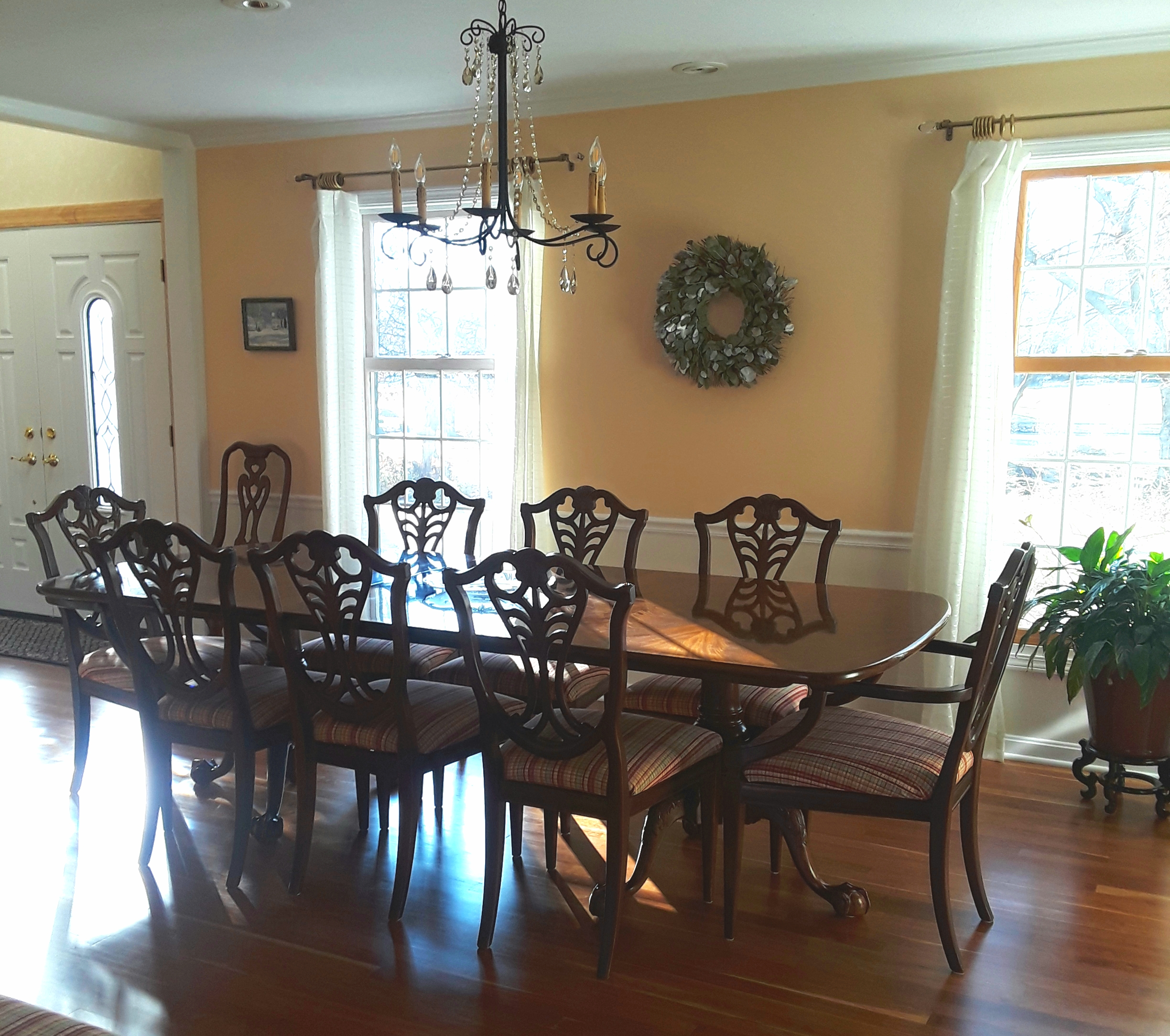 The almost finished dining room
