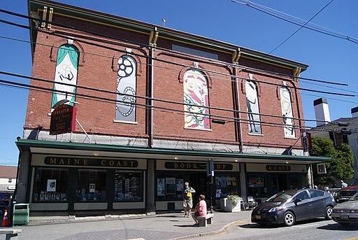 The Maine Coast Bookshop is located on Main Street in Damariscotta, ME