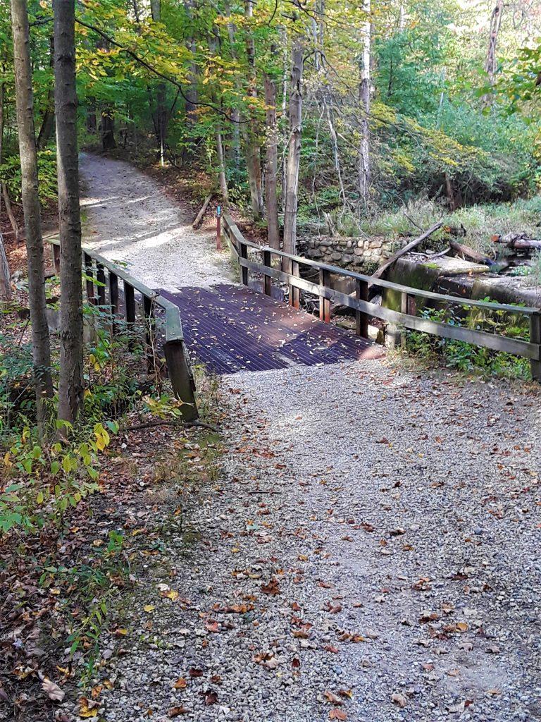 a bridge beyond North House crosses the creek