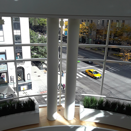 view from third floor to Michigan Avenue