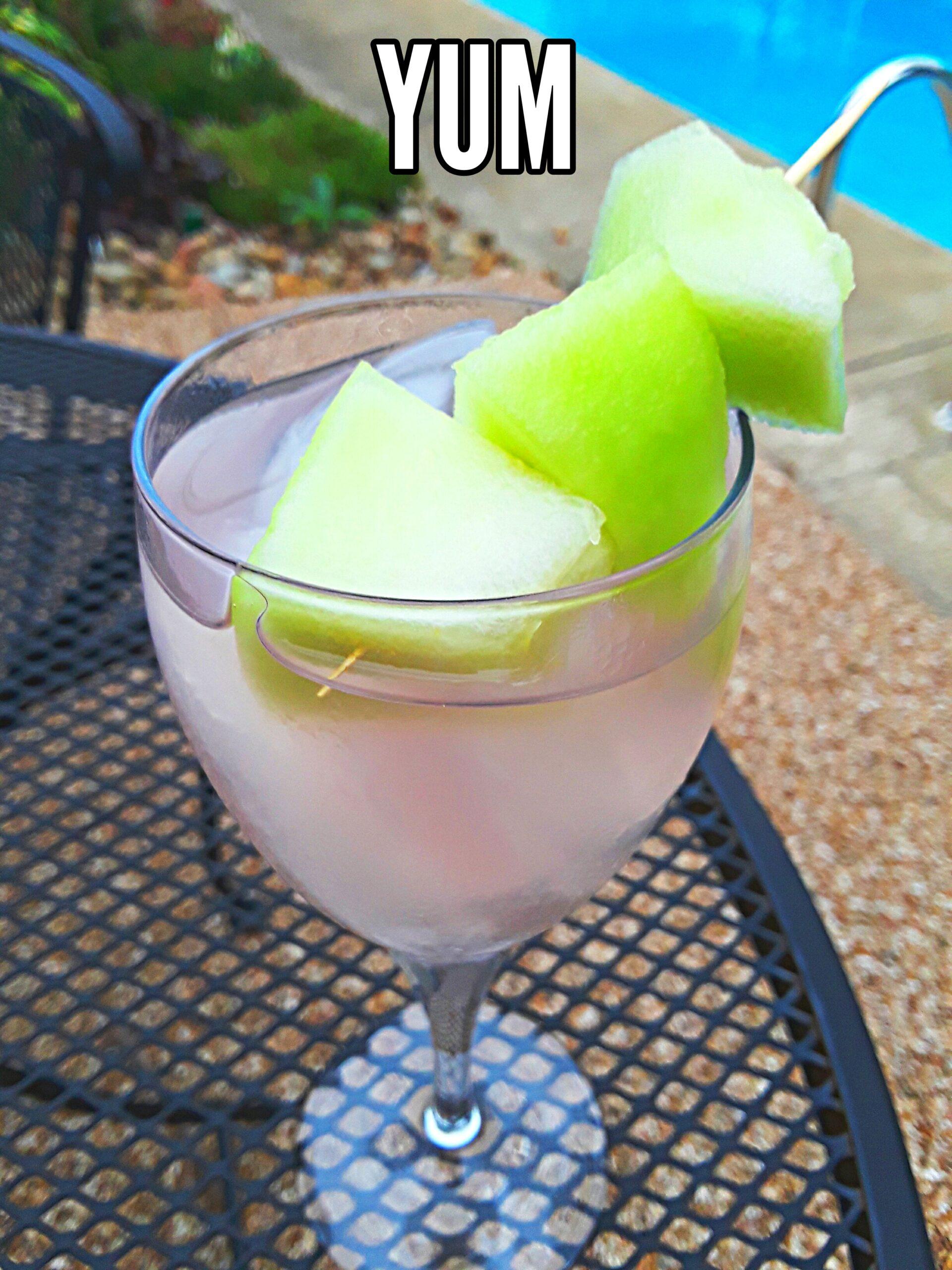 Honey Deuce craft cocktail is served poolside